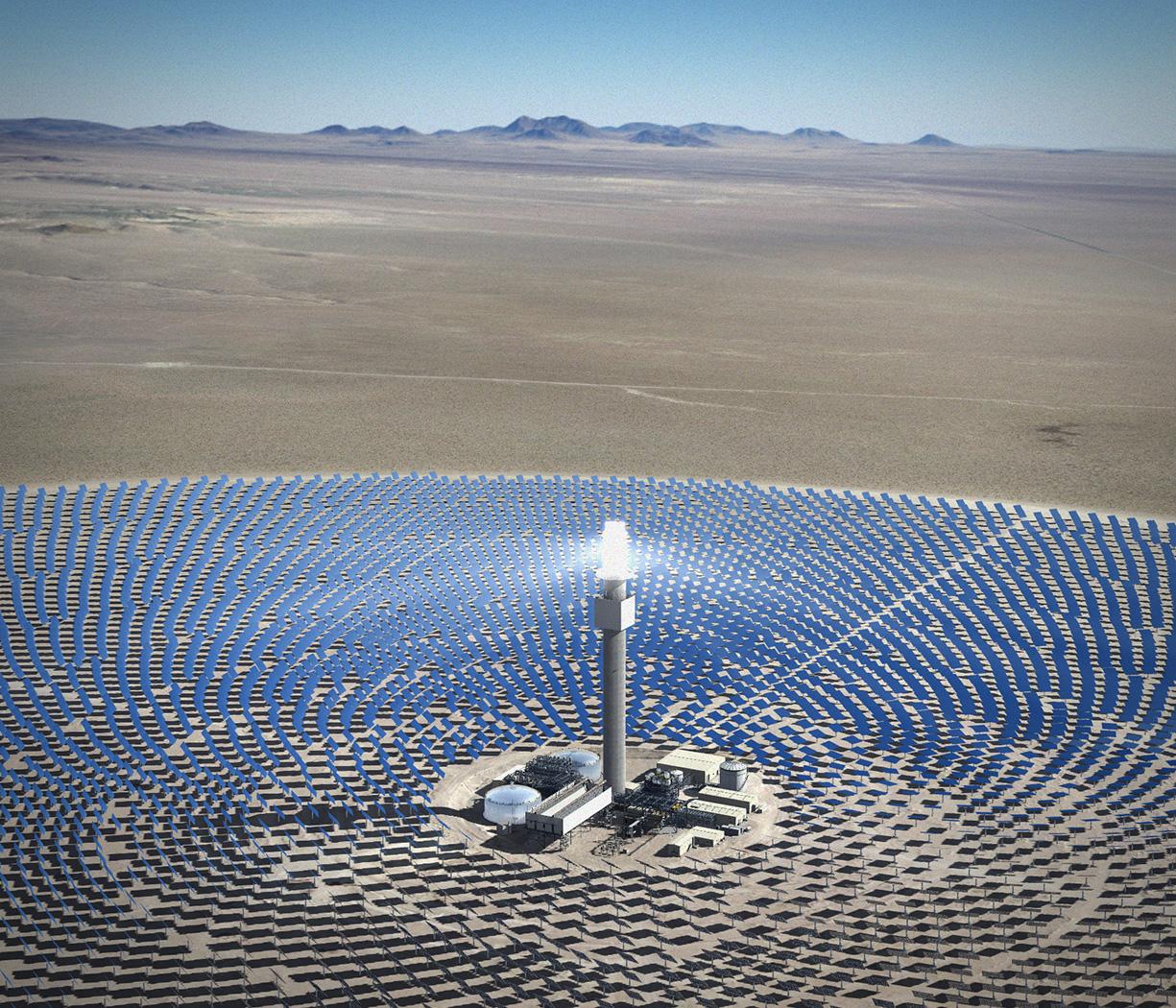 ... Solar Reserve Crescent Dunes', Concentrating Solar Power Plant